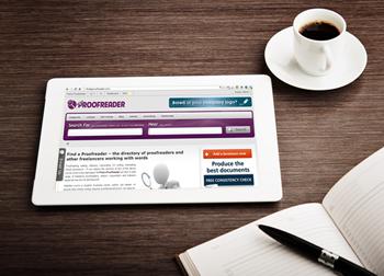 Find a Proofreader on a tablet